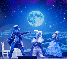 Book our winter wonderland entertainment for themed events worldwide.