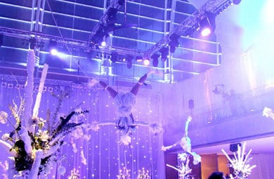 Arctic Wonderland Acrobatic Show for hire. Book our aerial acro-balance show for corporate events in the UK & London.