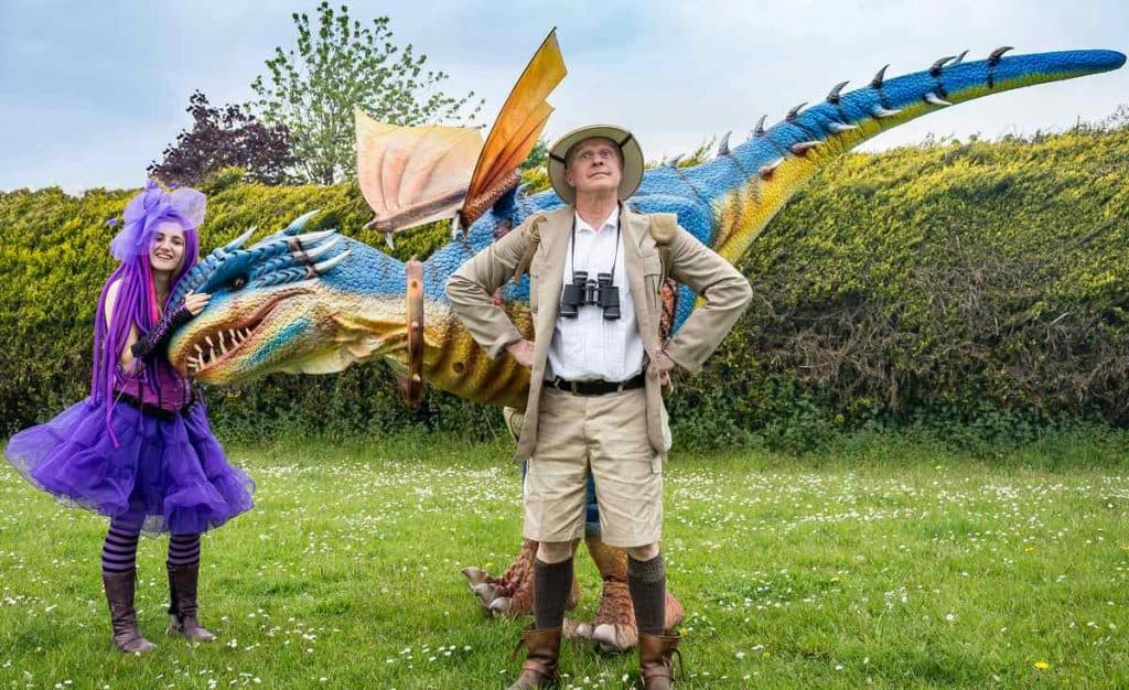 Hire our fantasy-themed walkabout dragon for St. George's Day events in the UK & London.