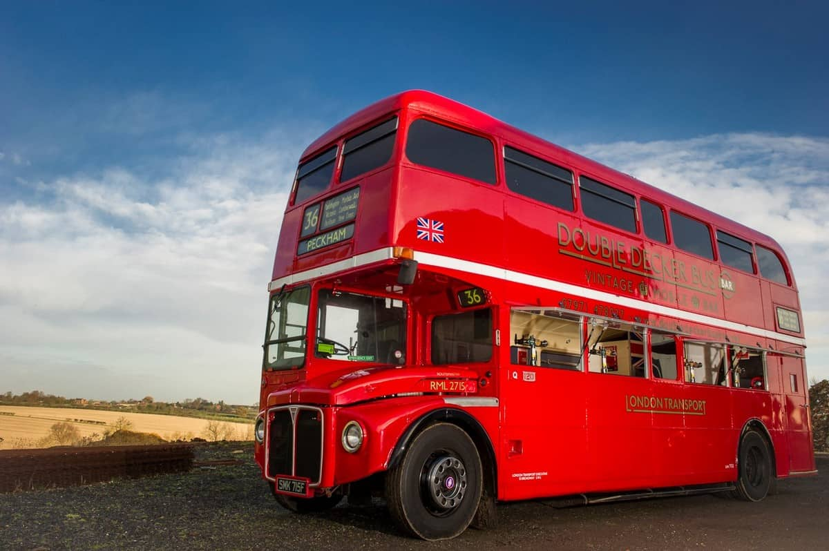 Themed Bus Bar for hire. Our Double-Decker Bus Bar is available to book for private parties in London & the UK.