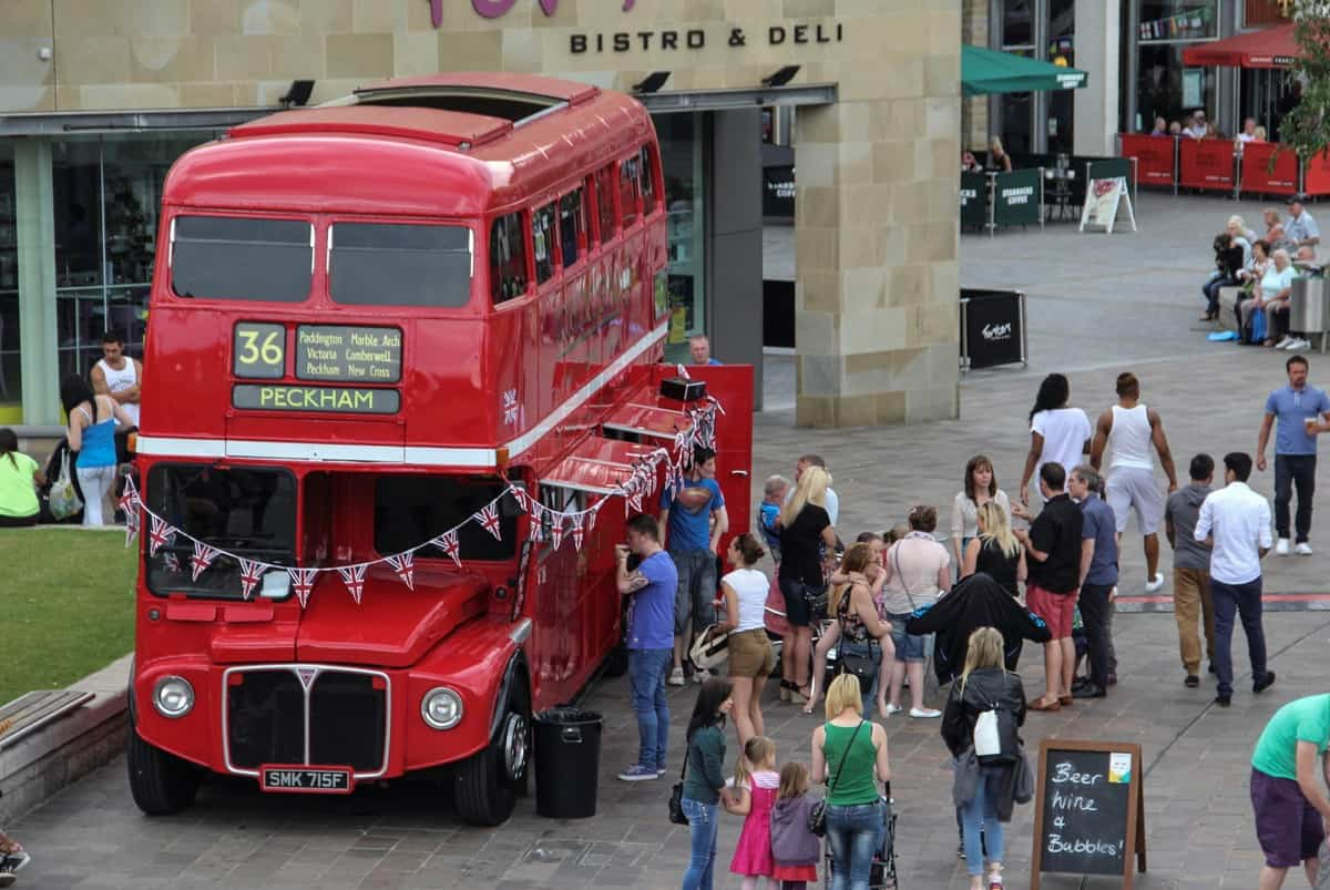Double-Decker Bus Bar for hire. Our bus bar is available to book for family fun days in London & the UK.