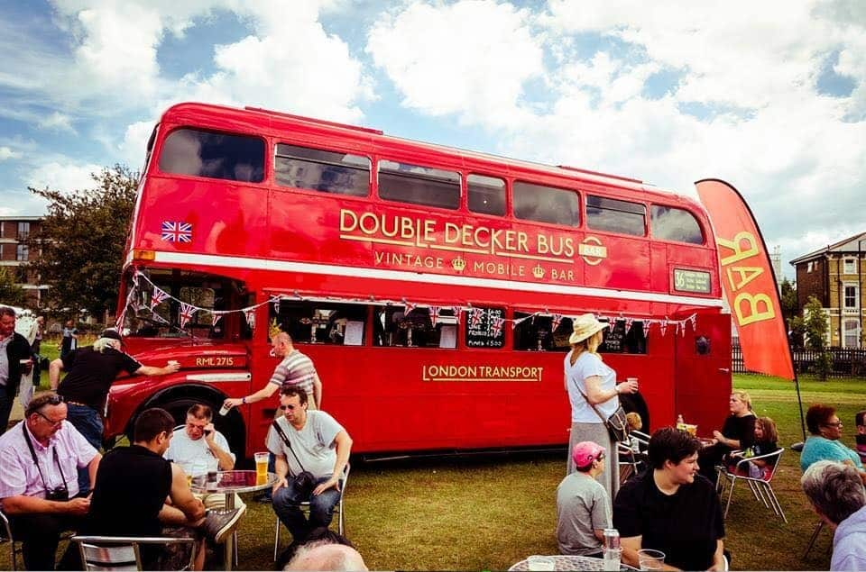Double decker bus bar hire. Book our bus bar for your event in London and around the UK.