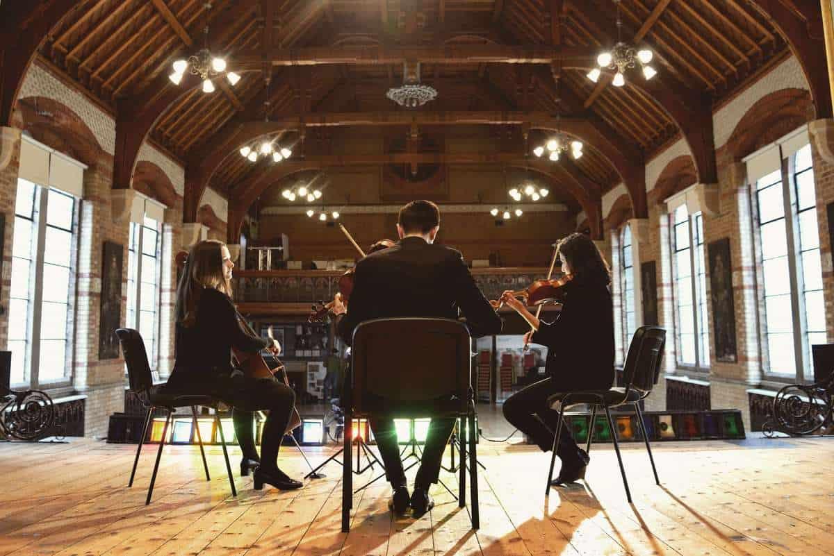 UK-based string trio for hire for award ceremonies.