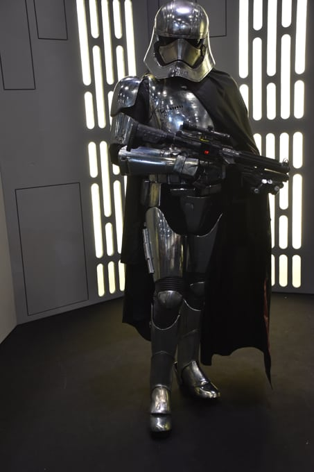 Captain Phasma Lookalike for hire. Our Captain Phasma Lookalike is available to book for Star Wars-themed events, film launches or movie premieres in London & the UK.