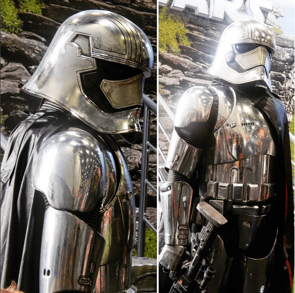 Star Wars Force Awakens character for hire. Book our Captain Phasma lookalike for film launches in the UK & London.