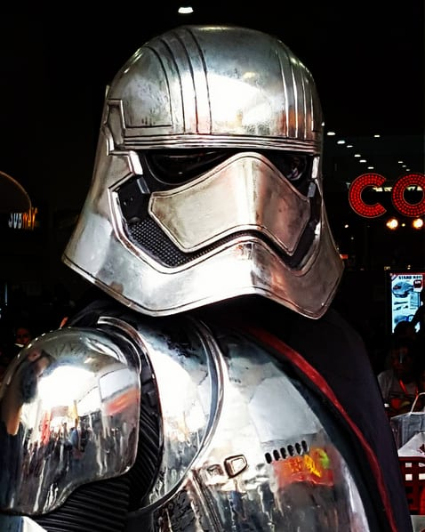 Captain Phasma walkabout act for hire. Our Star Wars character is available to book for corporate events in London & the UK.