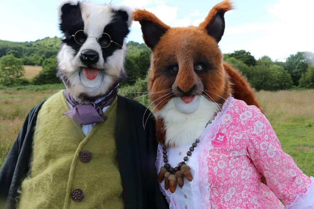 Walkabout animal characters for hire in UK.