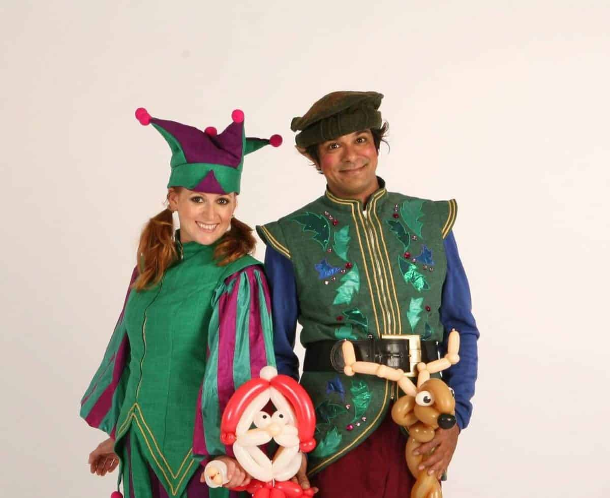 Professional stilt walkers for hire - book our christmas elves for corporate events in London.