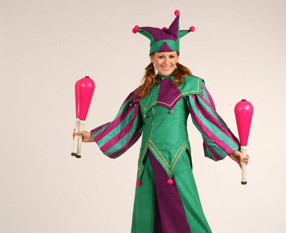 Cheeky Elves for hire. This walkabout act is available to book for children's Christmas-themed events in the UK & London.