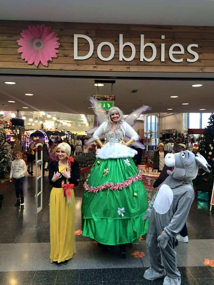Christmas Tree Fairy for hire. Our Christmas walkabout act is available for Christmas themed events in the UK.