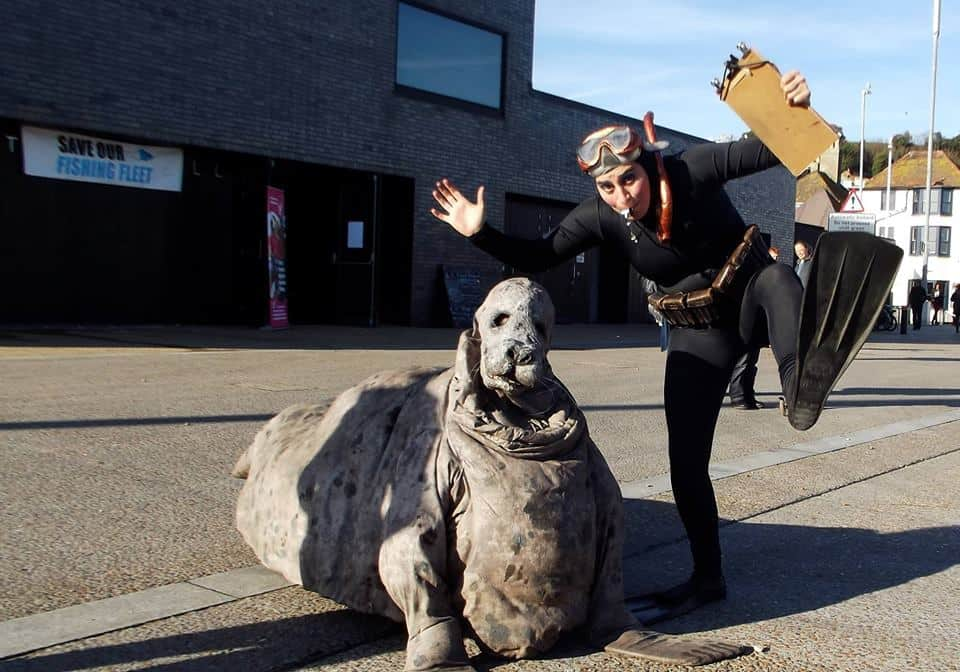 Ocean seal themed show and entertainer for hire in London and the UK