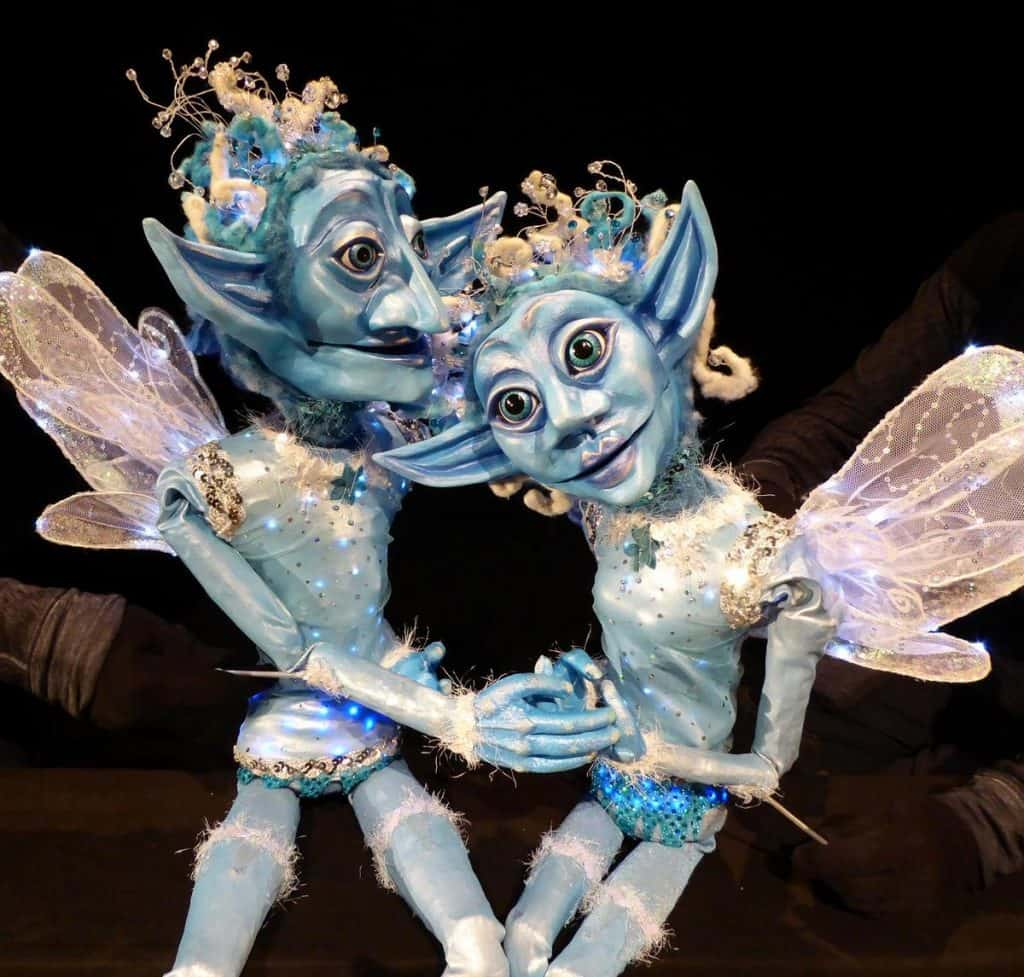 Christmas-themed entertainment for hire. Our Winter Fairy puppets are available to book for corporate events in London & the UK.