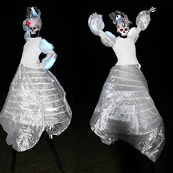 Book our day of dead stilt walkers for product launches in London and the UK