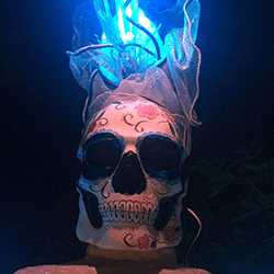 Our mexican skull characters are available to hire for weddings in London and the UK