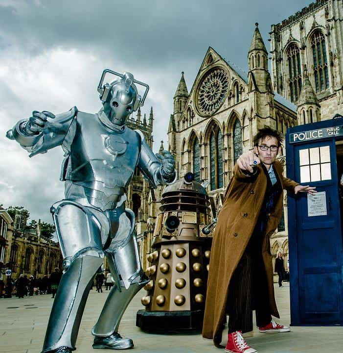 Doctor Who lookalike character for hire in the UK.