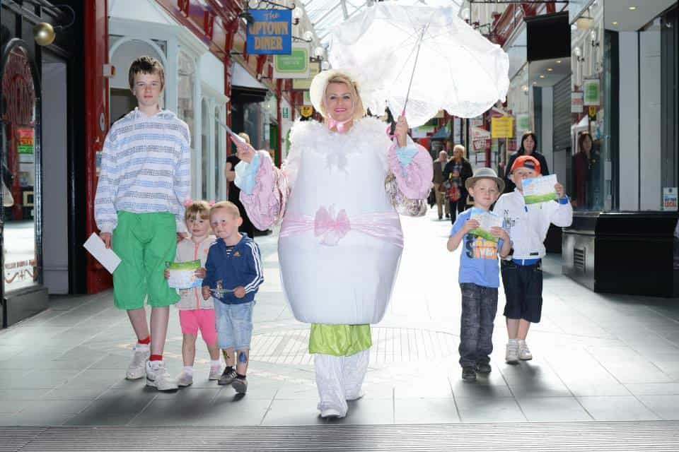Giant Easter Egg walk about acts