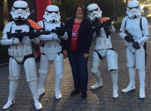 These scintillating Stormtroopers are available to book for corporate functions in London & the UK.