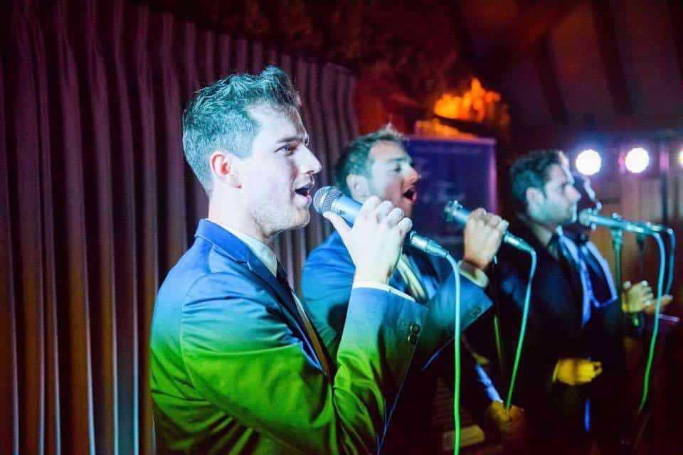 London-based male vocal harmony group available to hire for corporate events.