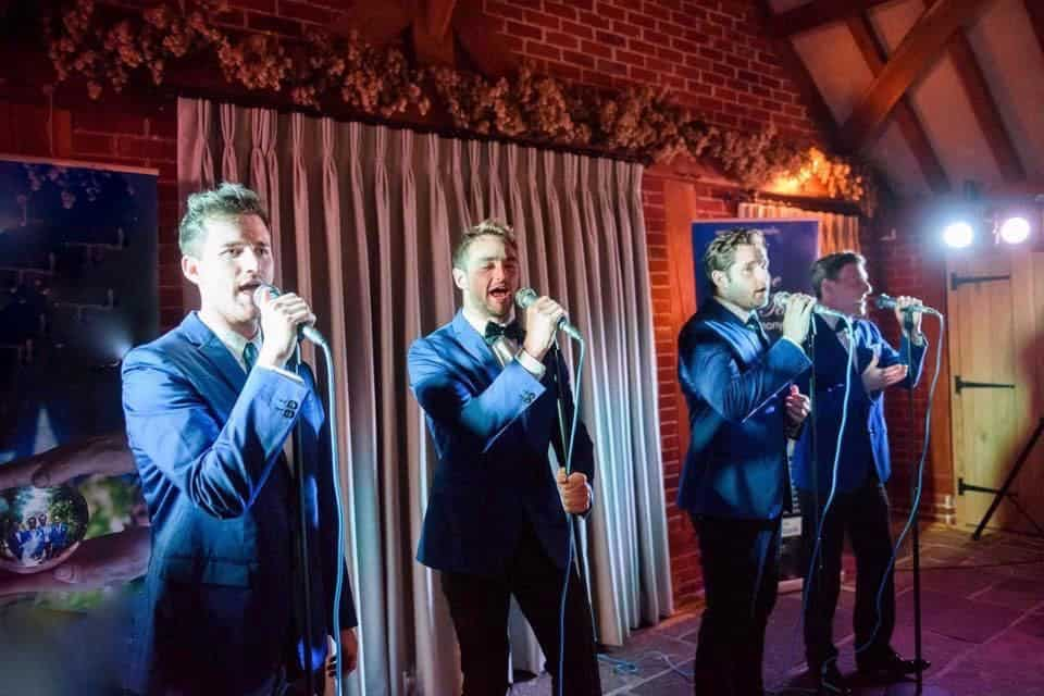 Hire our Barbershop quartet for gala dinners in London.