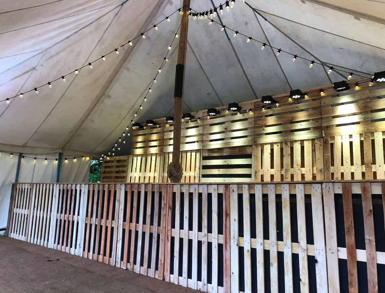 Finished pop up bar for Gallo Wine at Pub In The Park.