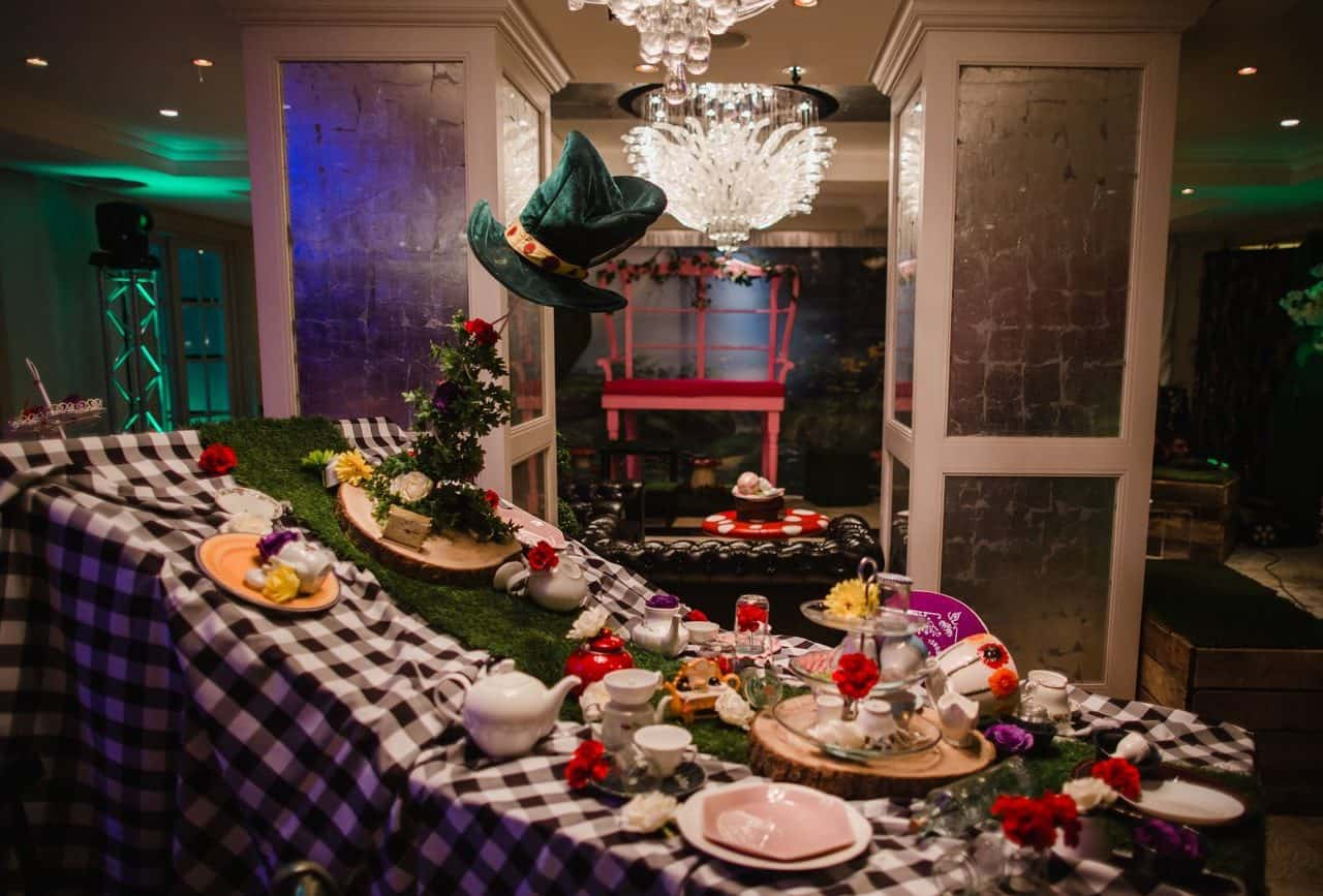 Mad hatter table available to book for twisted Alice themed events