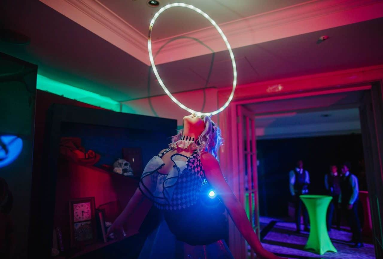 Mad hatter inspired dancers available to book for twisted alice themed parties