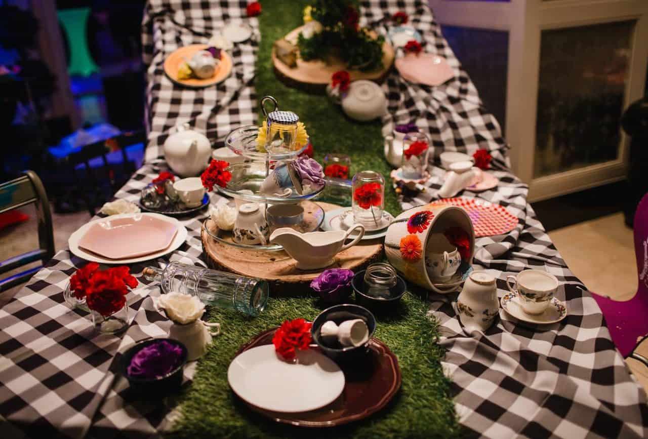 Bespoke props available to hire for twisted alice in wonderland themed events