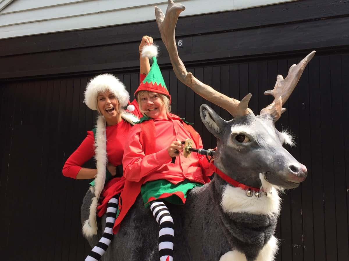 Lost Elves & Reindeer Walkabout act for hire. Our Christmas-themed meet & greet act is available to book for Winter Wonderland-themed events, Christmas-themed events or shopping centre events in London & the UK.