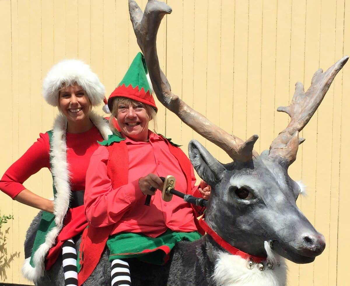 Christmas-themed walkabout act for hire. Book our Lost Elves & Reindeer walkabout act for Christmas-themed events in the UK & London.