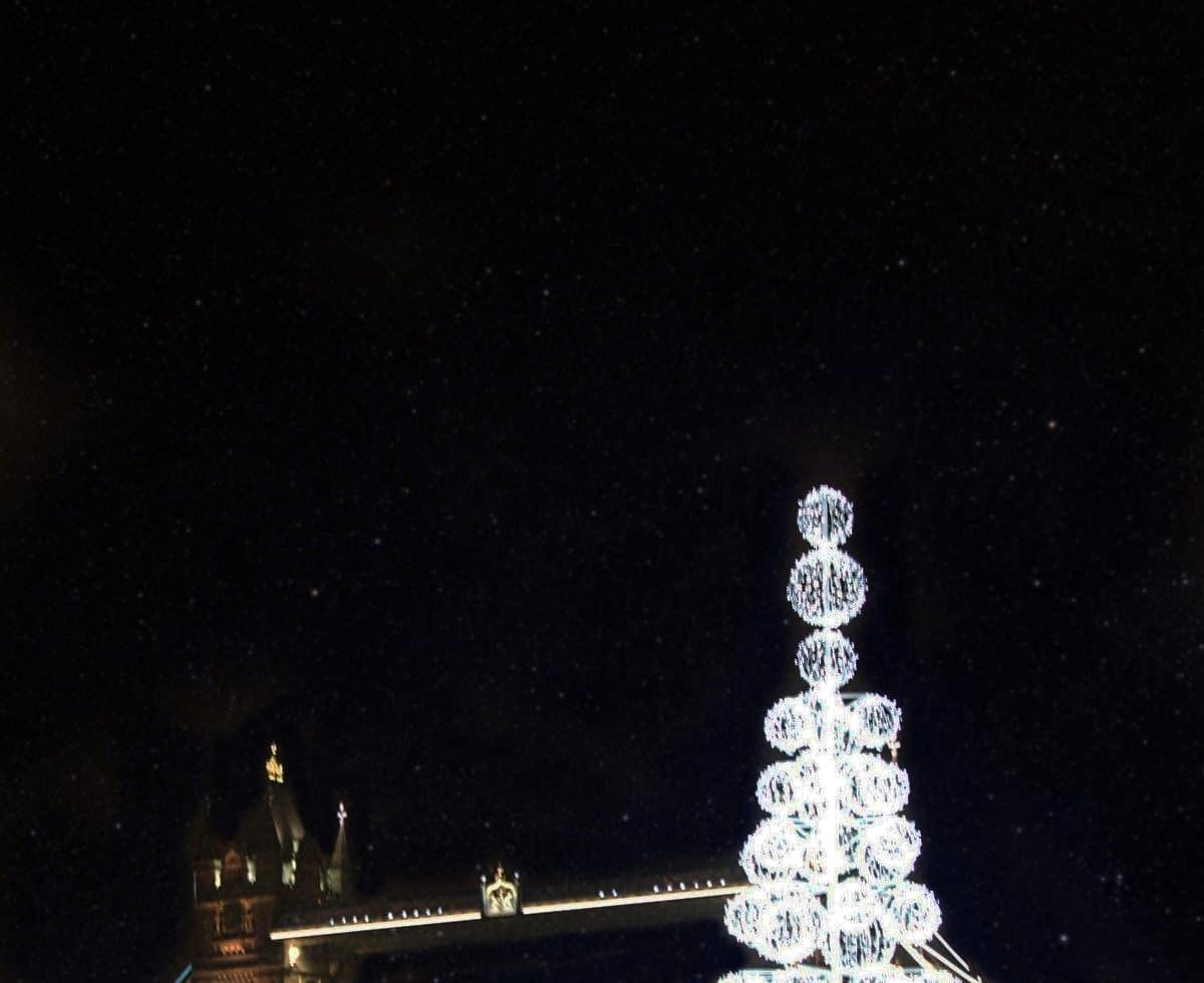 LED christmas tree city hall london
