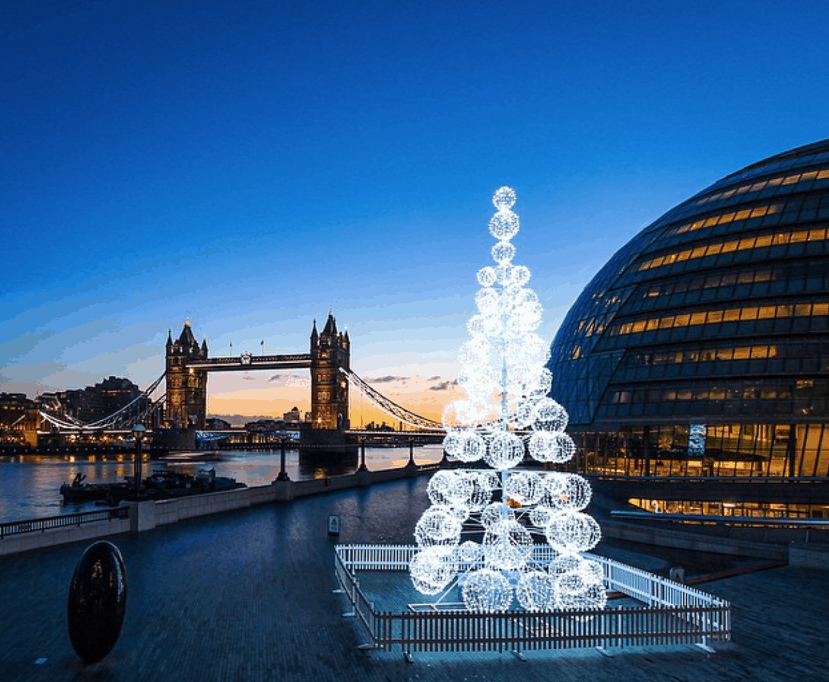 40 ft Christmas tree White LED Christmas Tree