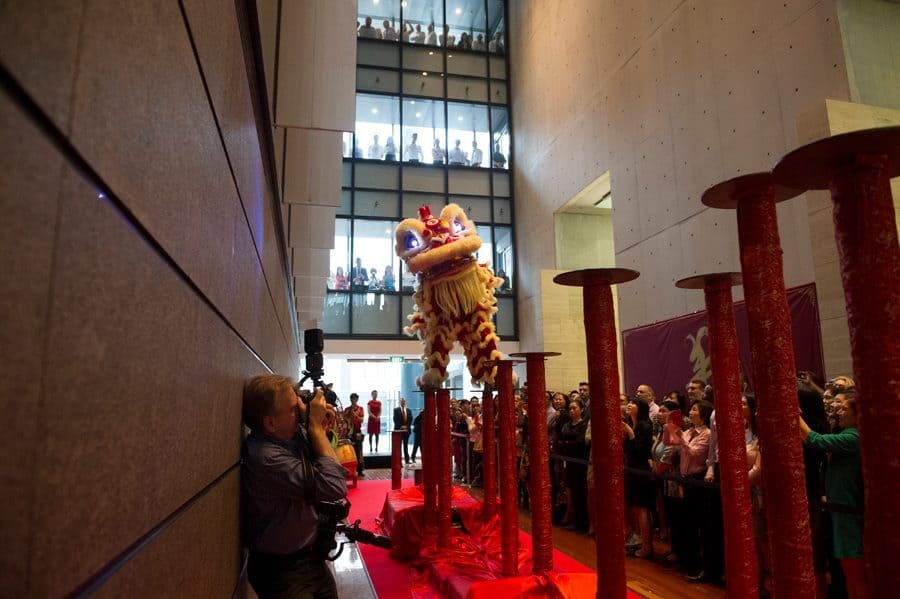 Traditional Northern Chinese Lion Dancers for hire. Our acrobatic Chinese Lion Dancers are available to book for Chinese New Year parties in the UK & Australia.