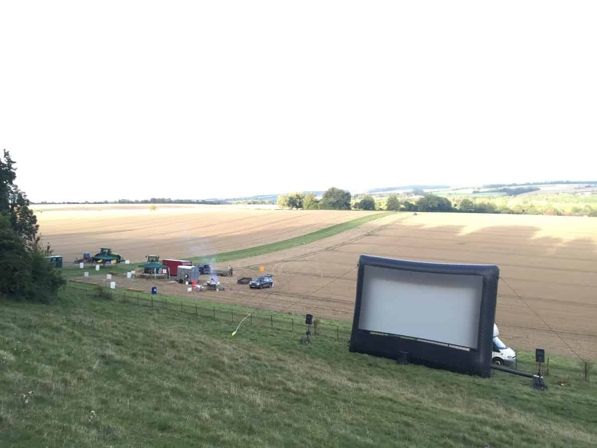 Open Air Cinema for hire. Book our Mobile Pop Up Cinema for private parties in London & the UK.