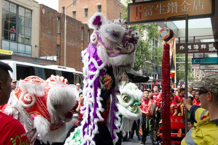 Book our Purple Chinese Lion for festivals in the UK, Australia & internationally.