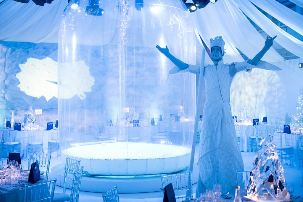 Human Snow Globe for hire in London and the UK. Our Human Snow Globe is available to hire for Christmas-themed events in London & the UK.