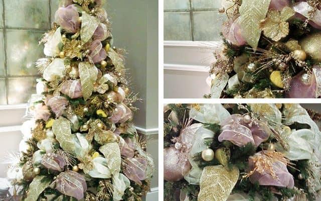 Pink Champagne Rose Gold Christmas Tree Seasonal Decor