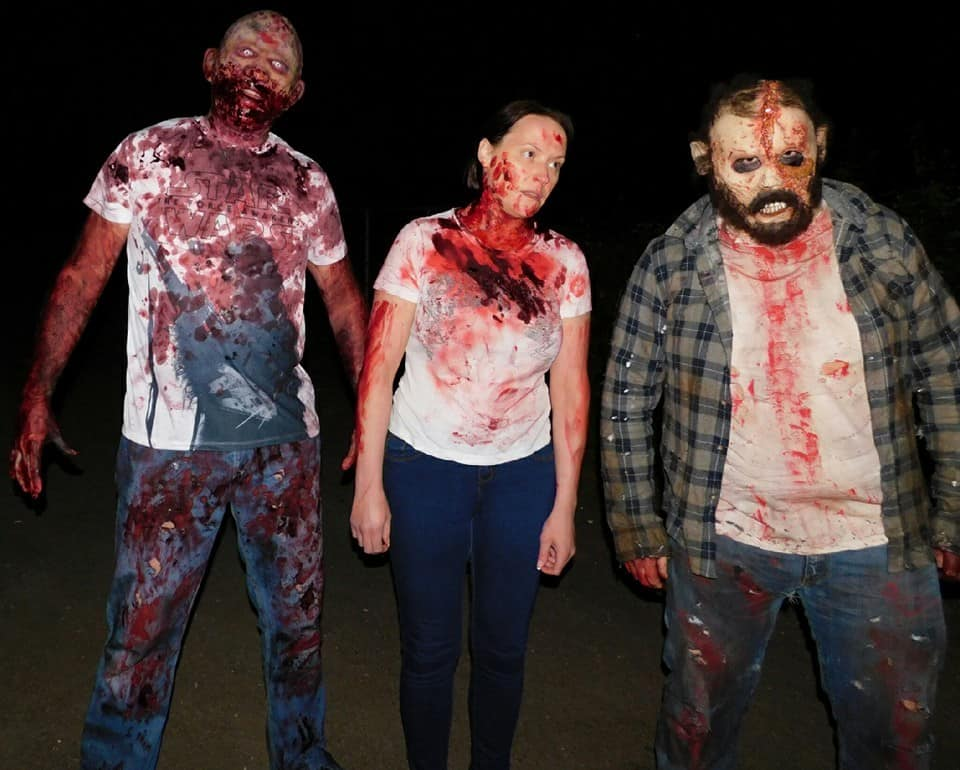 Zombie themed entertainment for halloween and zombie themed events.