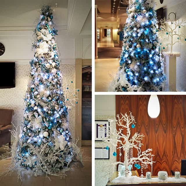 Official Date To Put Up Christmas Trees: Bespoke Tiffany Blue Christmas Tree For Hire