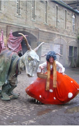 Dragon and Goblin show to hire, street and event entertainers show