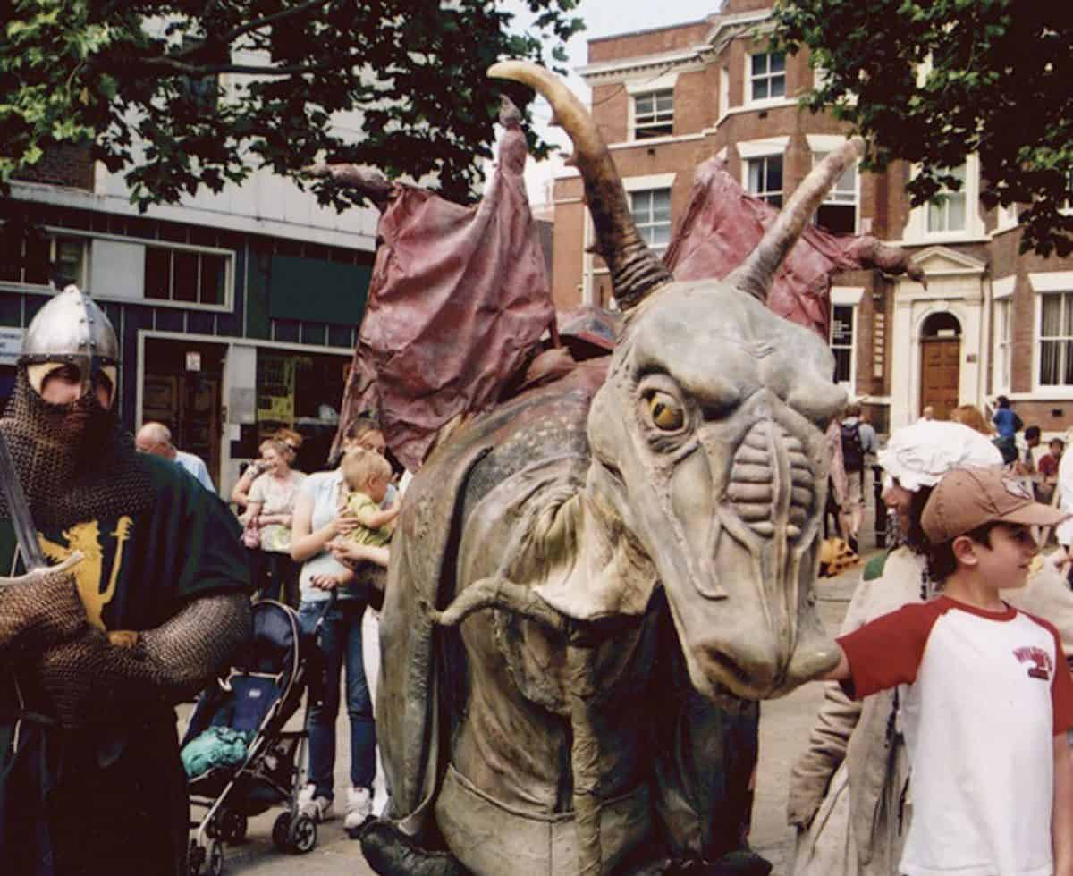 Dragon and Goblin walk about act/street theatre and entertainers for hire