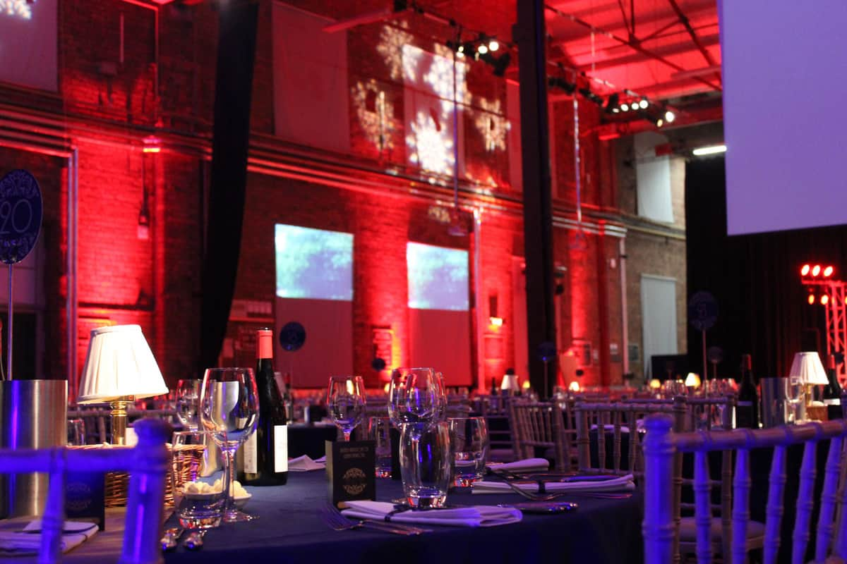 Lighting for corporate events available to hire for events in London and the UK