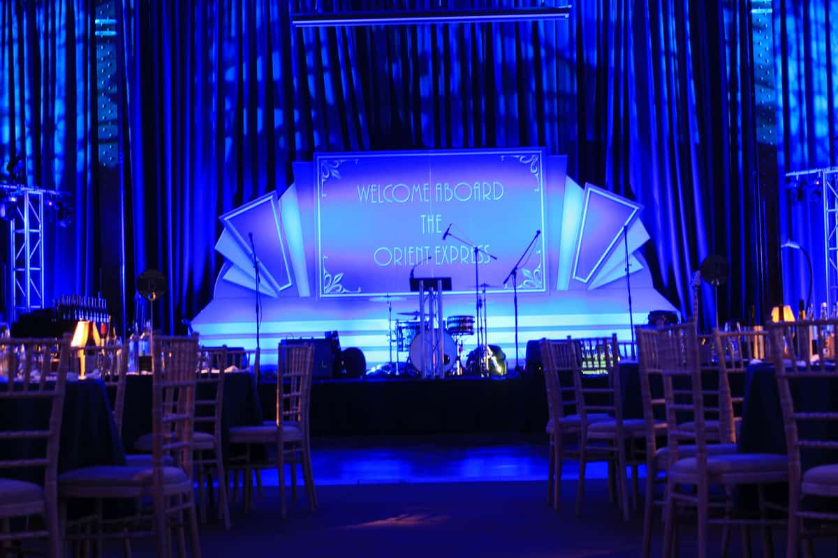 Book festive event theming for festive events in London and the UK
