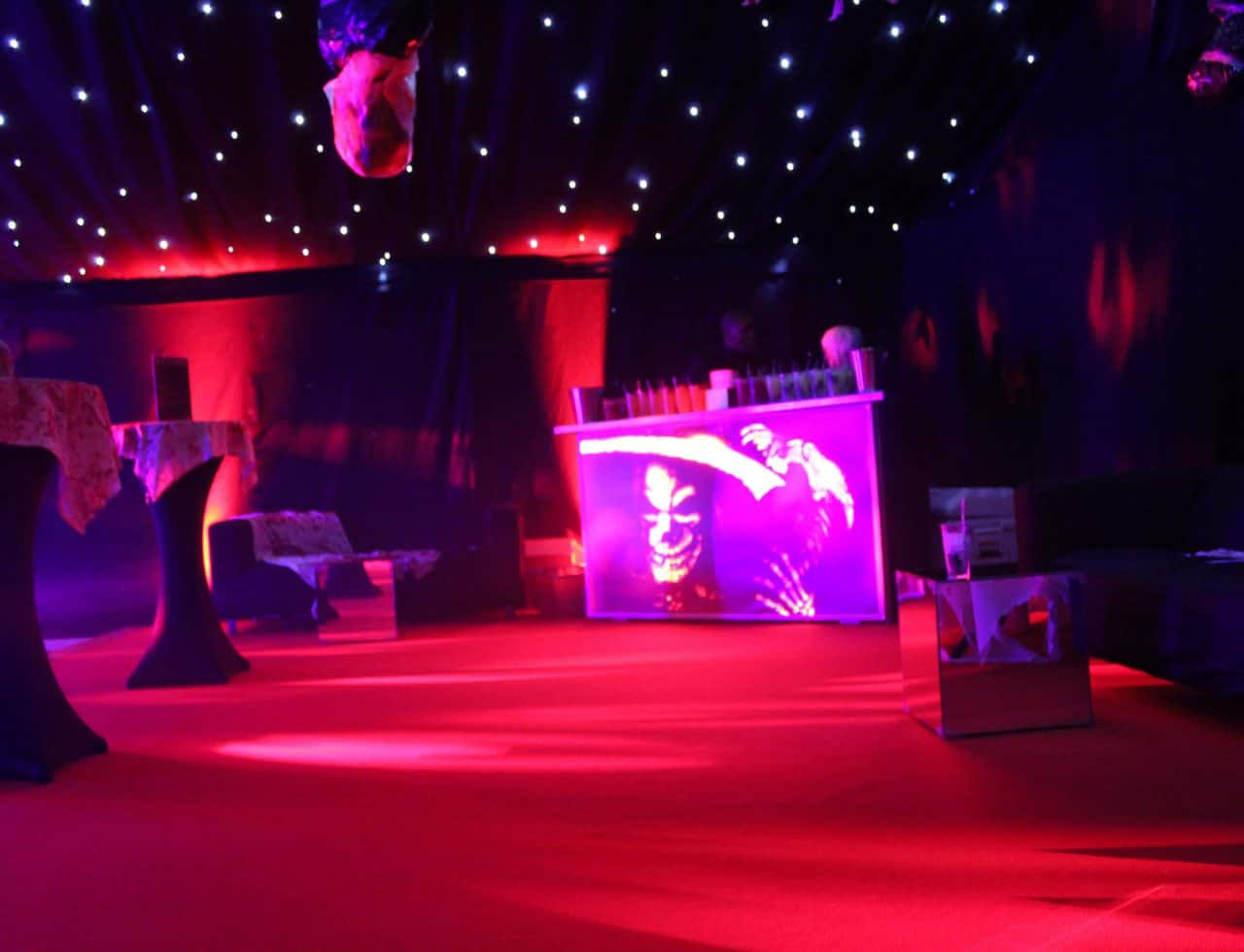 Halloween Dance Floor Design we created for our client's Halloween themed event.