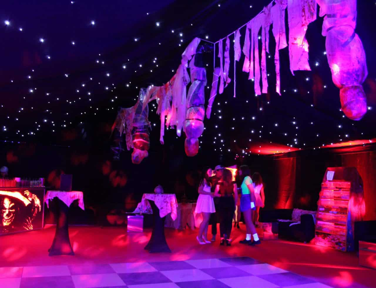 American Horror Story Halloween party dance floor design.