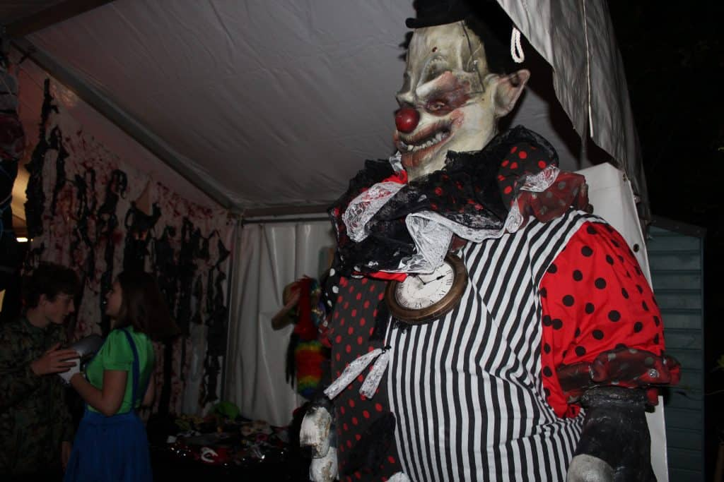 Giant Halloween Performer we supplied for our client's American Horror Story themed Halloween party.