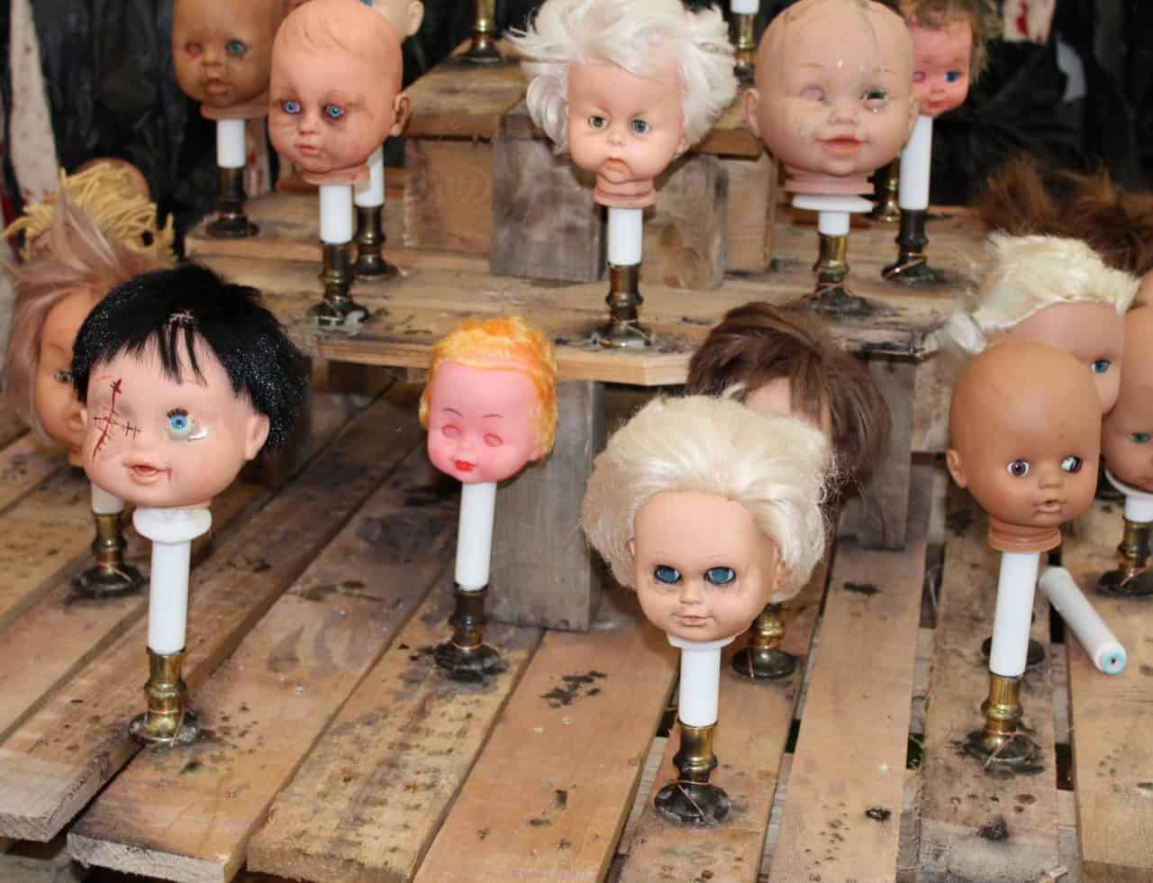 Bespoke Halloween Doll Props we created for our client's American Horror story Horror themed event.