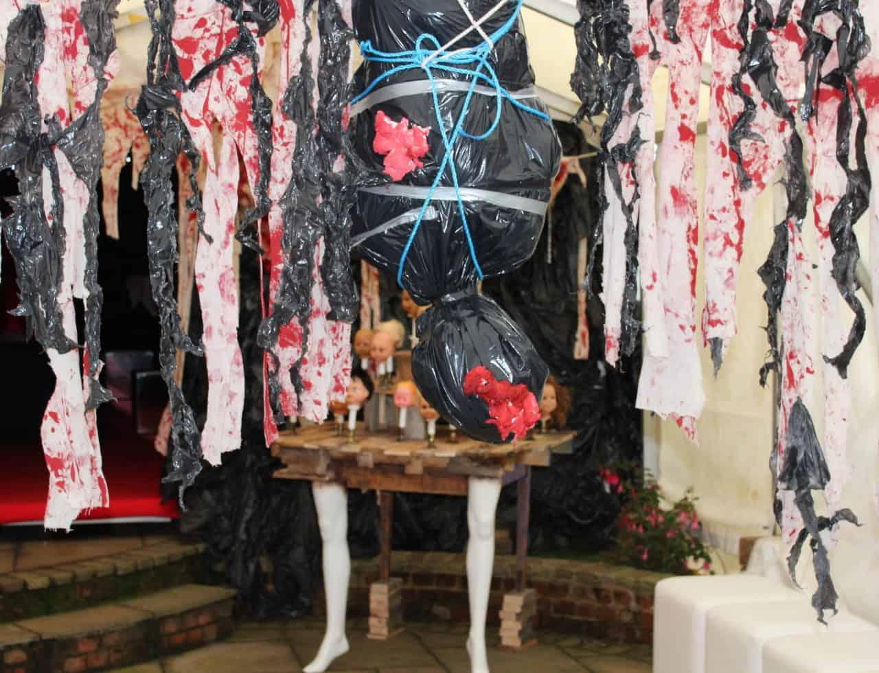 Bespoke Halloween Props we created for our Halloween venue dressing service.