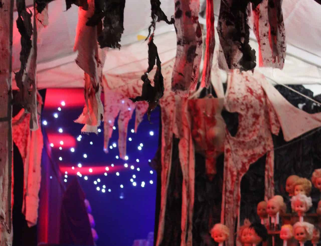 American Horror Story Prop Decorations we used to complete our Halloween venue dressing service.
