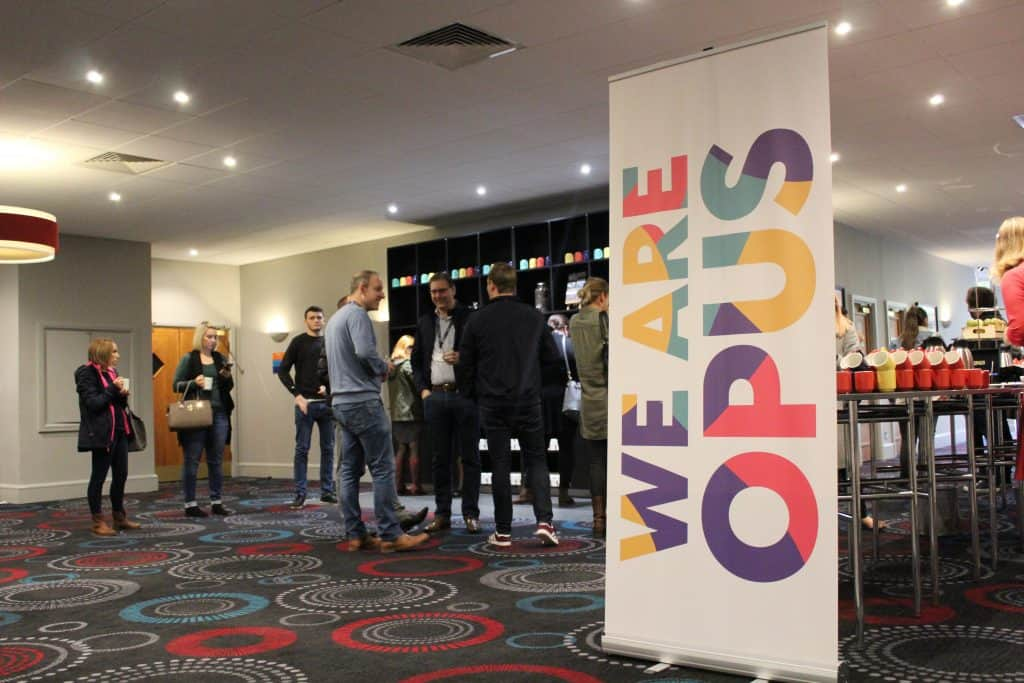 Bespoke signage created for the Opus conference.