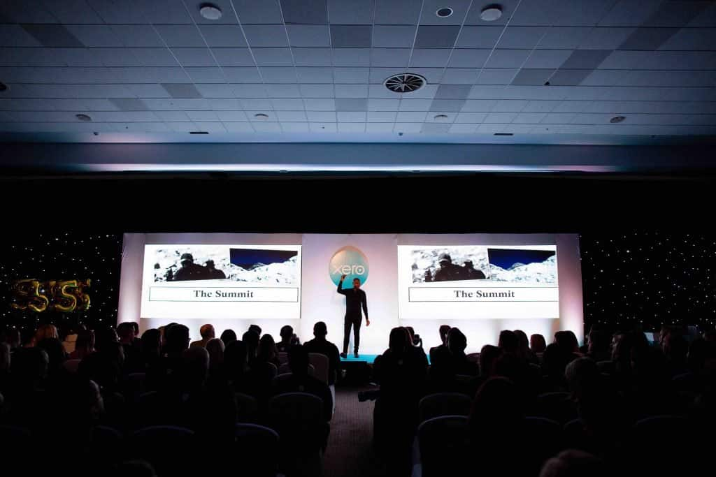 Ben McBean, War Veteran and Guest Speaker spoke to the Xero staff at their 2019 annual kick-off conference where Xero revealed their 2019 TV Advert.
